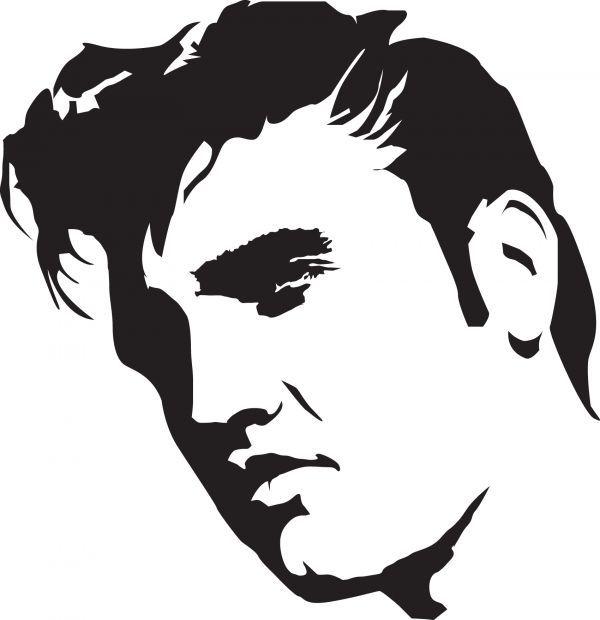 Elvis Presley stencil template: