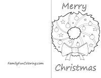 Color these free printable Christmas cards of elves, santa, wreaths, bells, and more. Bigger pictures available and Christmas tree coloring pages and cards to print as well.
