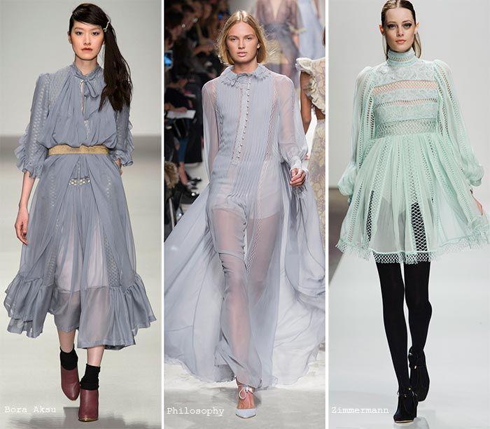 бледно-голубые и мятные платья