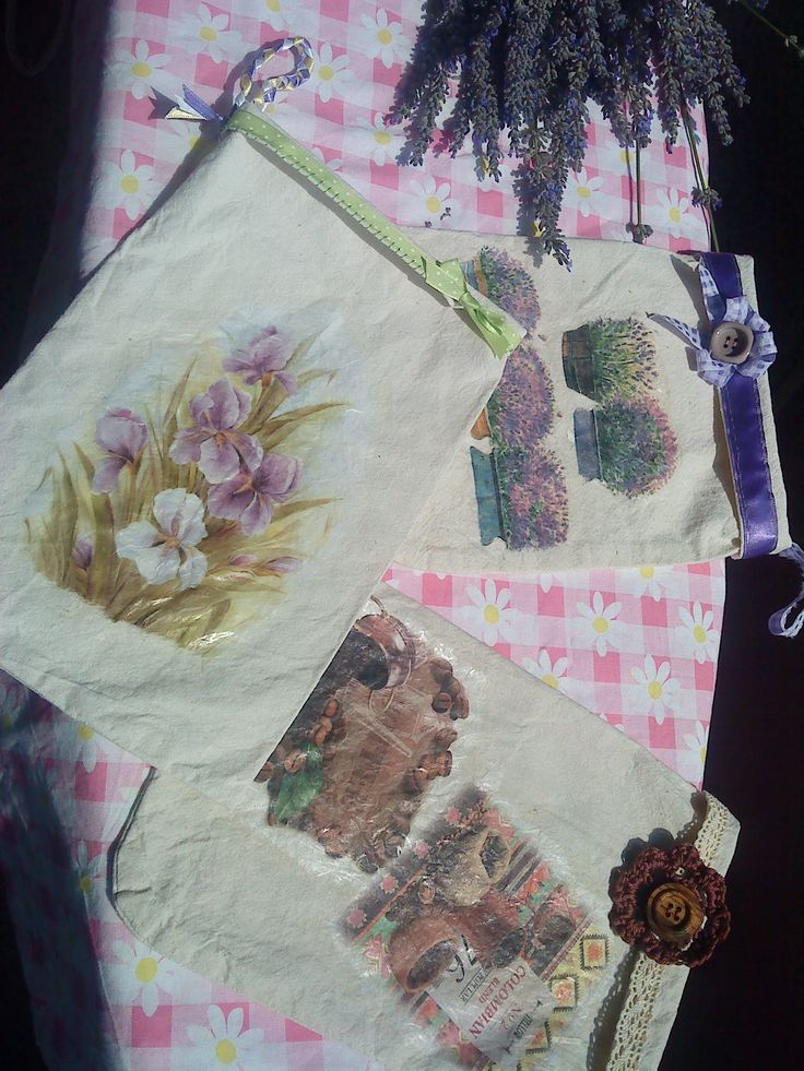 decoupage - small bags