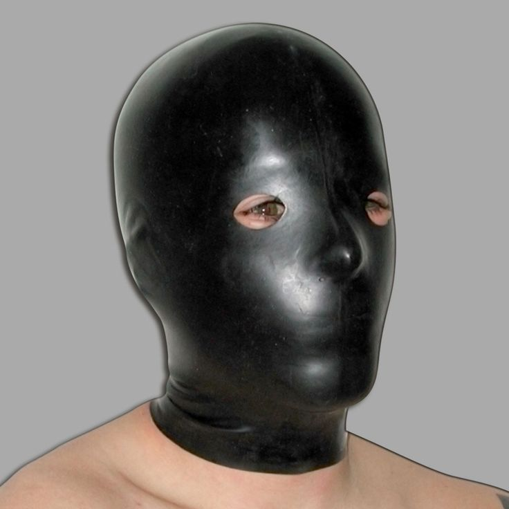 Masque en latex avec petits trous aux yeux et au nez de Meo.
