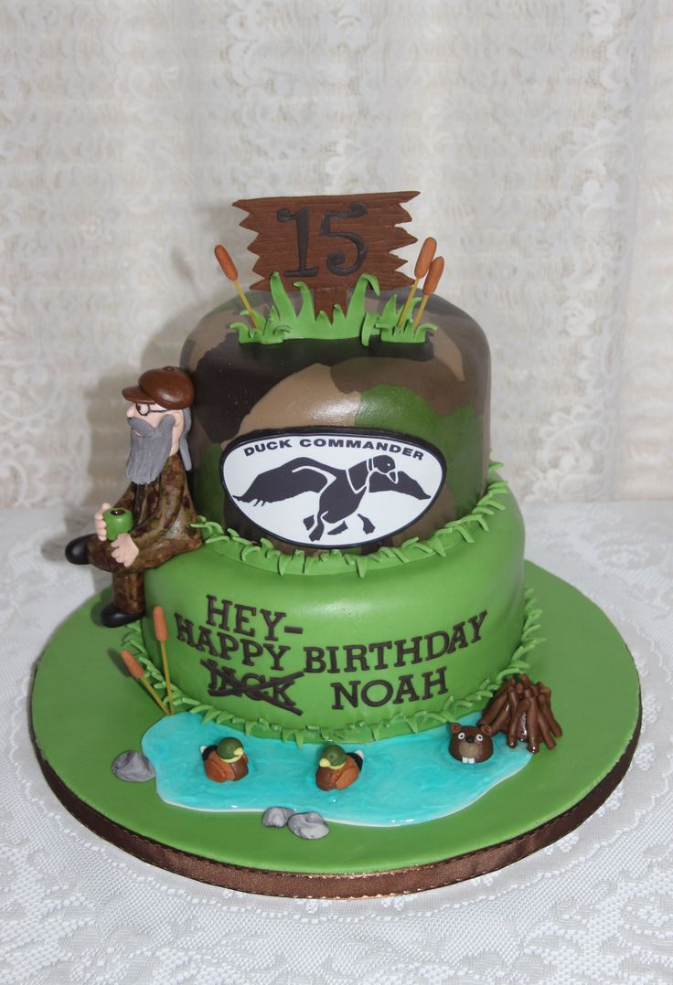 Duck Dynasty birthday cake. Sweetly Stacked.