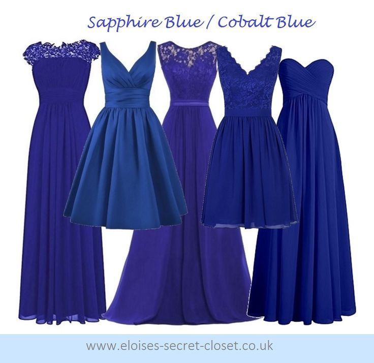 136 best Cobalt Sapphire Blue Bridesmaid Dresses images on ...