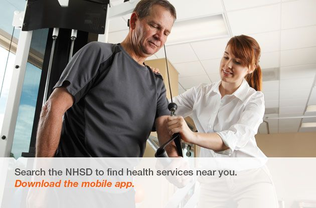 Search the NHSD to find health services near you. Download the mobile app.