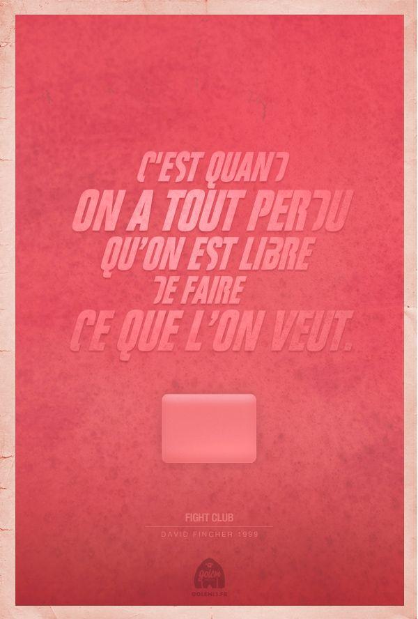 Citaffiches Fight Club   Golem13 #quote #movie #cinema