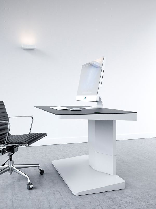 Gorgeous Office Workspaces Arrangement For Simple Room: Computer Table In  White For Modern Workspace Design Ideas