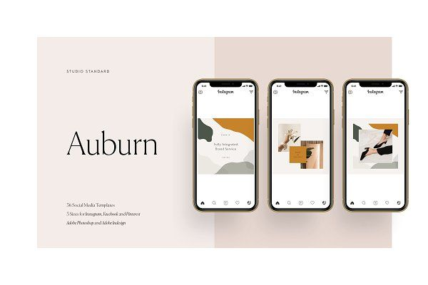 Ad: Auburn Social Media Pack by Studio Standard on Creative Market