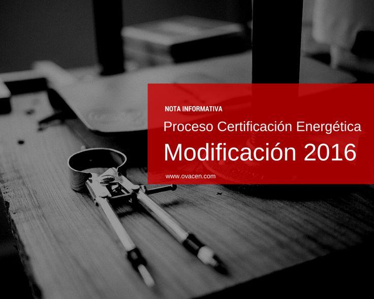 Análisis nuevos cambios del proceso de certificación energética de edificios para 2016. Obligatoriedad de utilizar las nuevas versiones de los programas