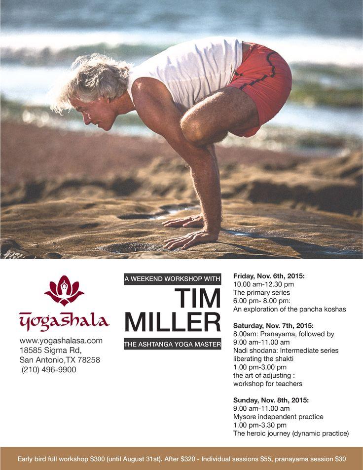 Yoga Shala November Workshop Tim Miller