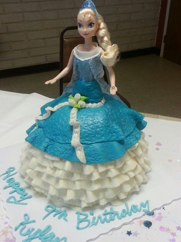 Princess Elsa Cake Images : Princess Elsa cake Birthday doll cakes Pinterest ...