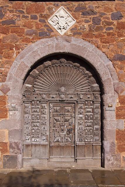 Medieval carved wooden door circa 1600, Cathedral Close. Exeter, Devon - England   by Webber264, via Flickr