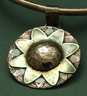 Heliopsis by Whispering Elms Studio.  Hand made from Copper and Bronze.