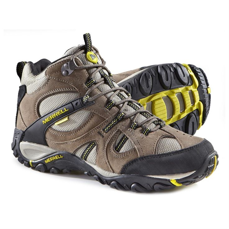 Men's Merrell® Yokota Trail Waterproof Mid Hiking Boots, Brindel / Firefly