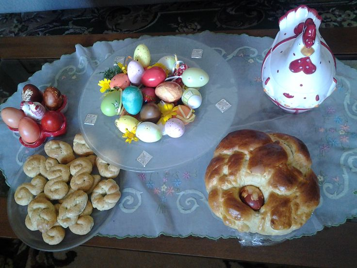 Easter cookies and bread