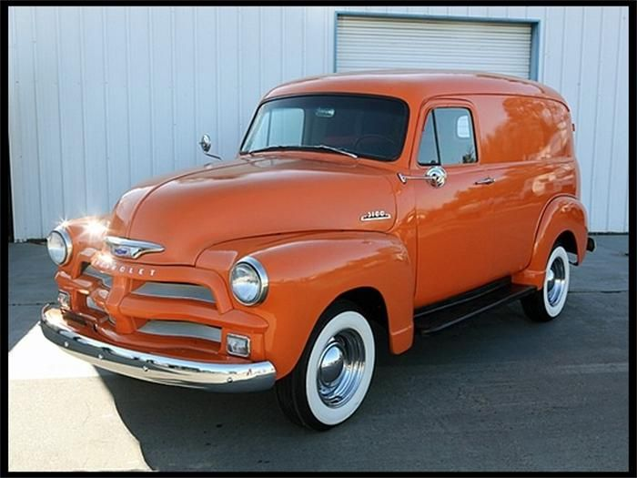 '54 Chevy Panel Van - Looks like the Chevy HHR, right?