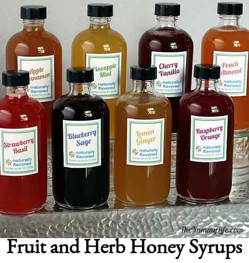 Fruit and Herb Honey Syrups
