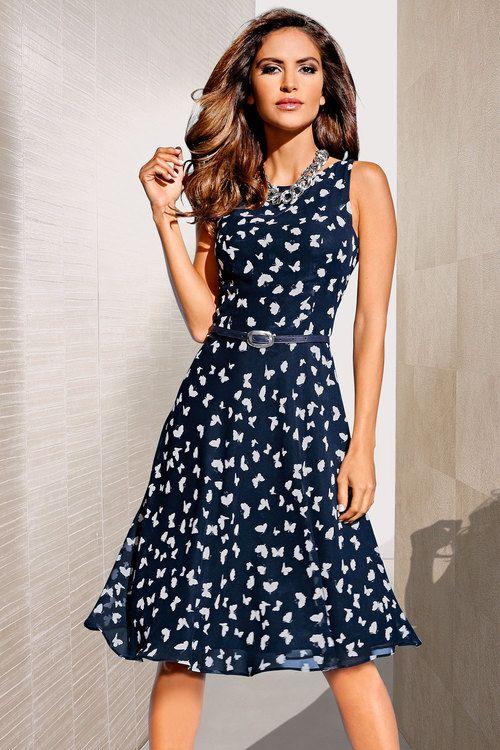 Heine Fit and Flare Printed Dress Online | Shop EziBuy