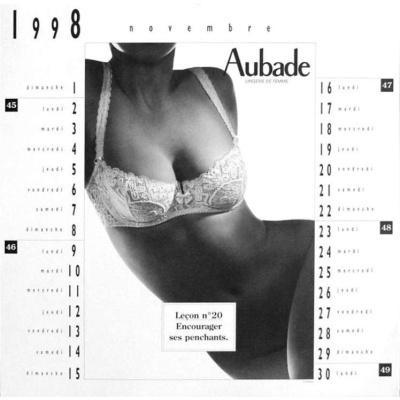 Mois de Novembre du Calendrier 1998 - Aubade