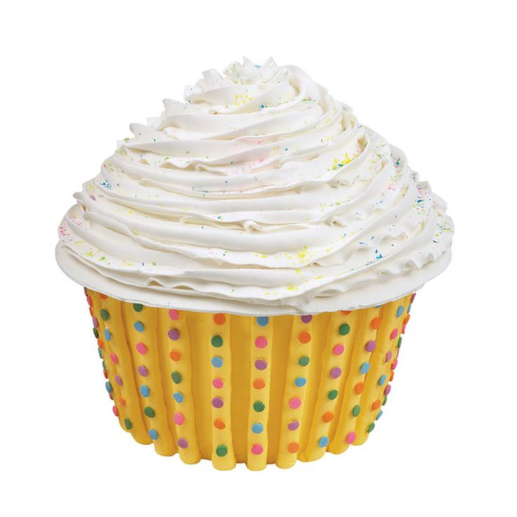 Neon Dots Cake is over 8 inches tall! Dimensions® Giant Cupcake pan bakes the fun 3-D shape. Easy-to-pipe lines and Confetti Sprinkles make short work of this birthday-ready project.