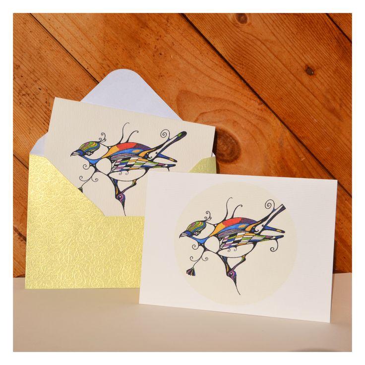 postcard, bird