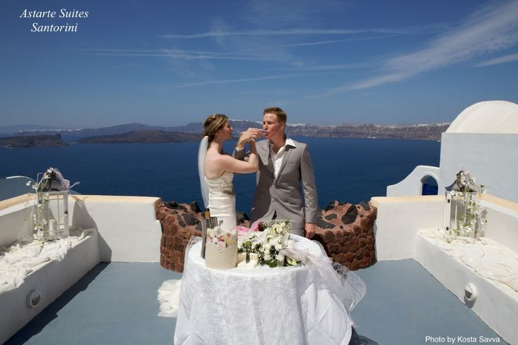 """A #Wedding in #Santorini with the historical background encompassing the """"Myth of Atlantis"""" allows each bride the magical moment where she not only looks like a Goddess, but feels like one too. #Astarte #Suites"""