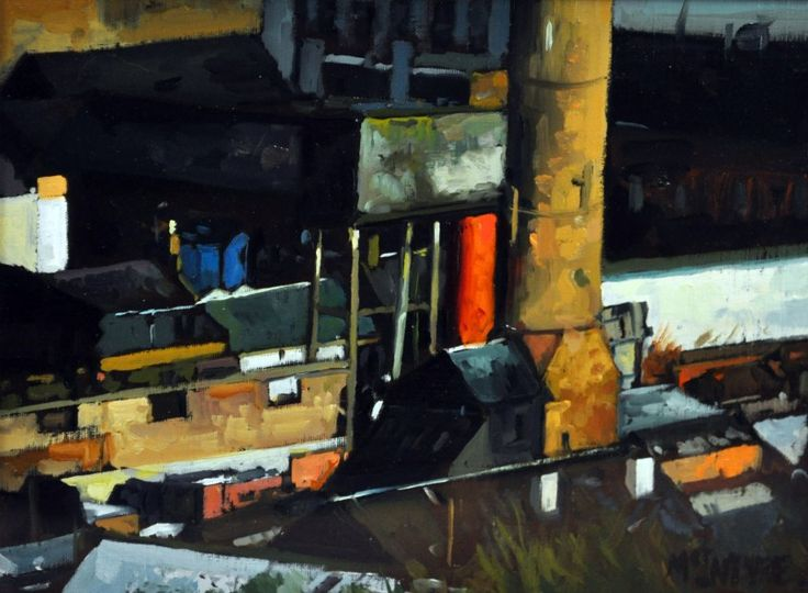 Joe McIntyre Study for Industrial Landscape, Dundee Oils | Scottish Contemporary Art