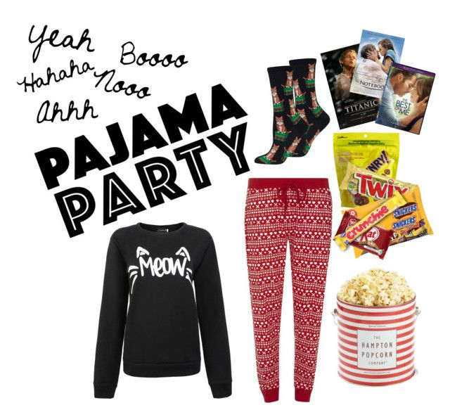 """Pajama Party"" by piloneugenie on Polyvore featuring Dorothy Perkins, HOT SOX et CO"