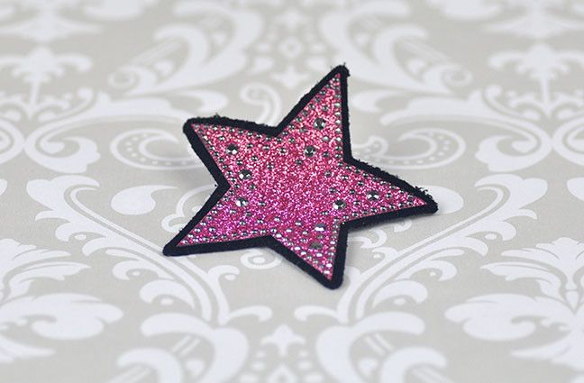Sparkle Star Hair Clip in Pink