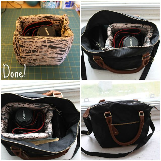 DIY Camera Case Bag Liner. Thank you A Sewcial Life for this great tutorial