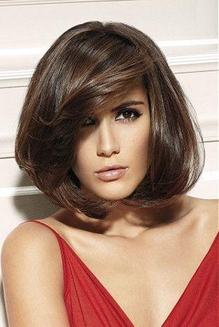 medium length hair cut bangs | Medium Haircuts with Bangs for Face Shape and Hair Type