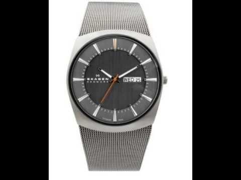 Skagen Titanium Mesh Charcoal Mens Watch, its just amazing..