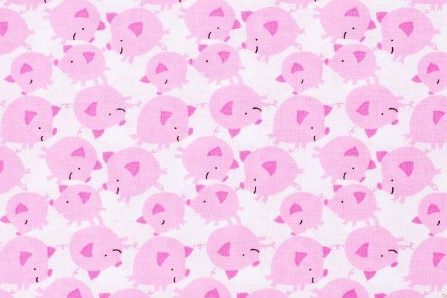 Get Together White Pigs - SzpilaShop - Tkaniny dla dzieci