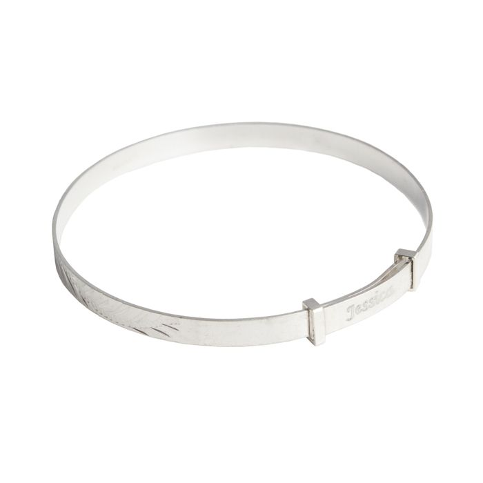 This gorgeous sterling silver christening bracelet for a baby or a child, can be personalised with a name up to 15 characters long.  A personalised silver christening bracelet is a wonderful gift that will last a lifetime, and show the recipient and their parents just how much they mean to you.