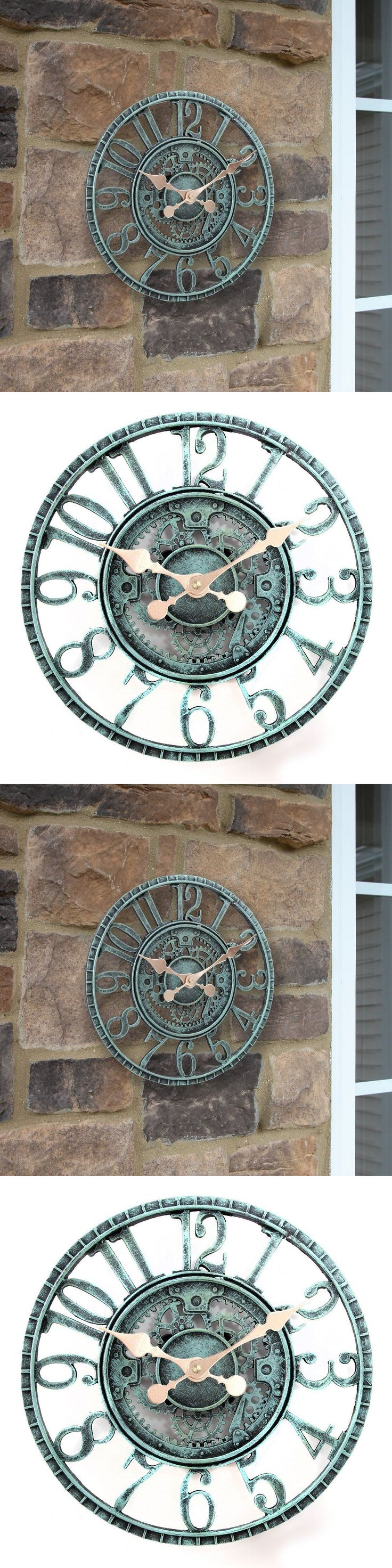Outdoor Thermometers 75601: New Indoor Outdoor Wall Clock Steampunk Gear Cog Design, 12 Poly Resin Pewter -> BUY IT NOW ONLY: $32.97 on eBay!