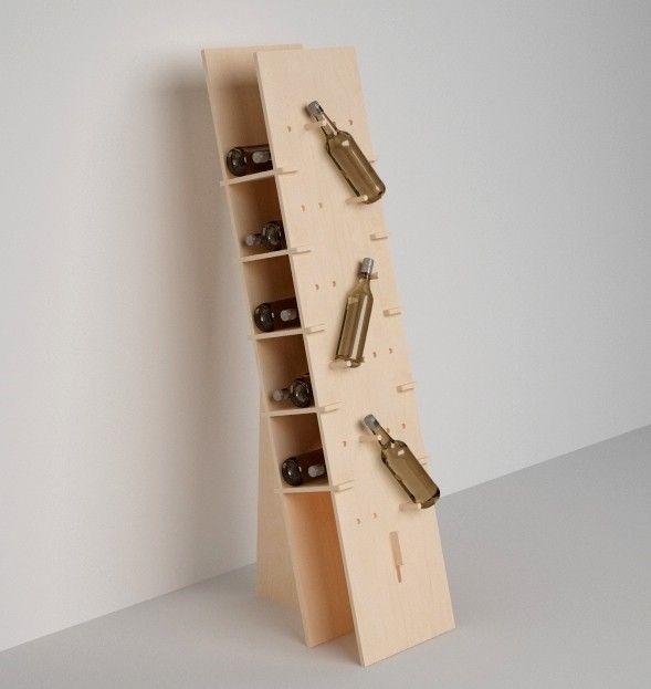 """Espositore ad incastro per bottiglie in multistrato di betulla by """"Esposit by Studio Arredi"""" #artigianato #piemonte #artigianoinfiera #handmade #handcraft #arredamento #cantina"""