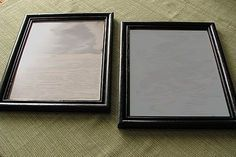 Painting a plastic picture frame