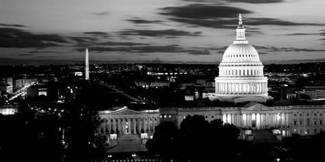 High Angle View of a City Lit Up at Dusk, Washington Dc, USA Photographic Print by Panoramic Images at AllPosters.com