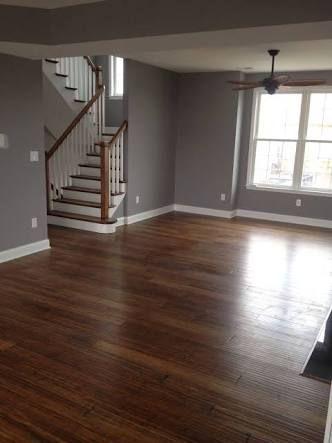 Bildresultat för dark bamboo flooring family room gray walls