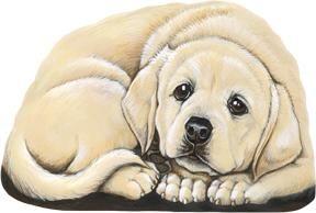Presse papier of mini deurstop van een schattige blonde Labrador!