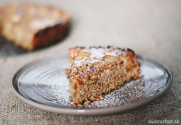 Fotorecept: Kokosovo-orechový hruškový koláč