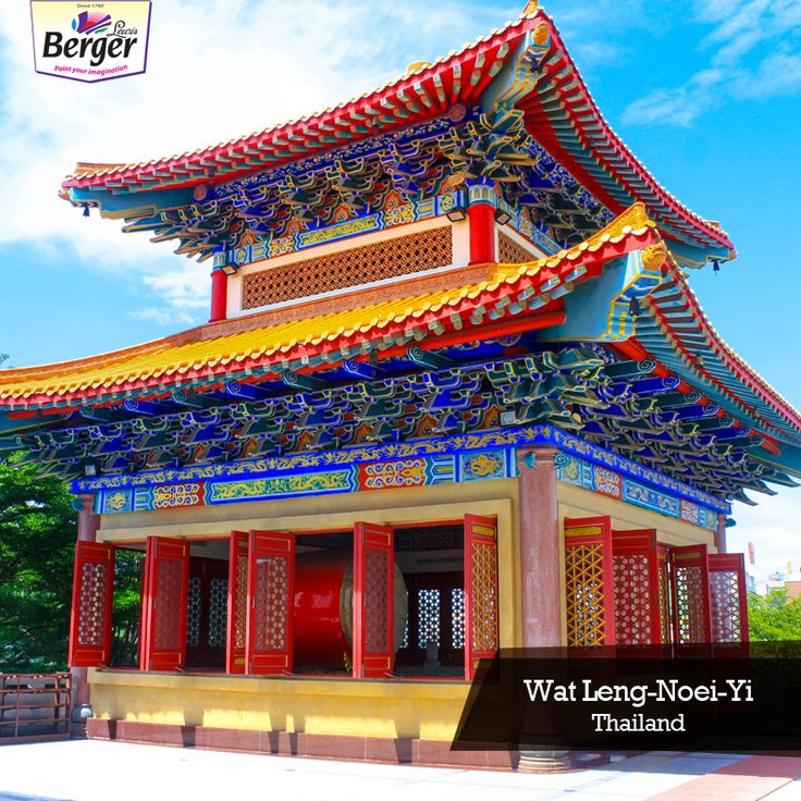 This is a Chinese Buddhist shrine at the Wat-Leng-Noei-Yi temple complex in Bangkok, Thailand. The beauty of this temple lies in its elaborately designed tiled roof with coloured animal and floral motifs. #ColourfulWorld