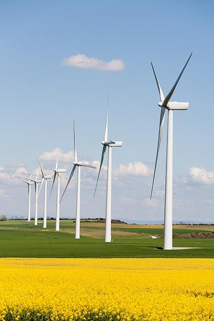 France, Haute-Garonne, éoliennes. by jpazam, via Flickr