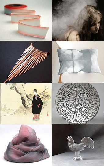 #apricot #copper #salmon #peach #grey #silver #dawn #mist #treasury #etsy