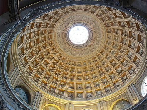 Looking up in the Vatican Museum