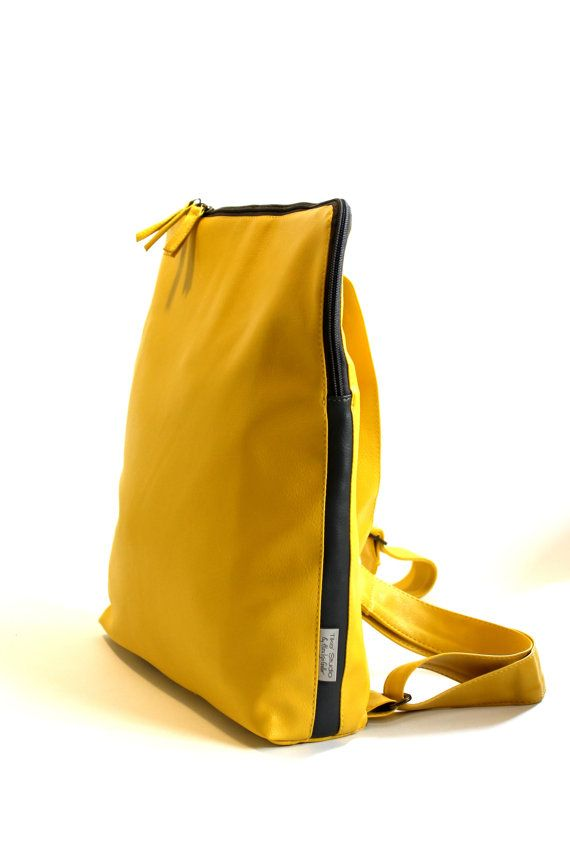 Woman Backpack Laptop Vegan Satchel Yellow By Tikestudio My Bags Collection Pinterest Computer Everyday Bag And Purse