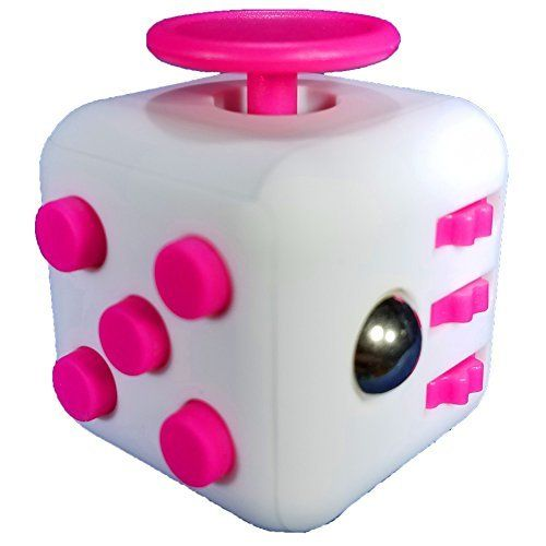 Fidget Cube Desk Toy for Children and Adults at School or the Office | Helps with Stress Relief, Anxiety, Autism, Anger, ADHD, and ADD   White/Hot Pink. #Fidget #Cube #Desk #Children #Adults #School #Office #Helps #with #Stress #Relief, #Anxiety, #Autism, #Anger, #ADHD, #White/Hot #Pink