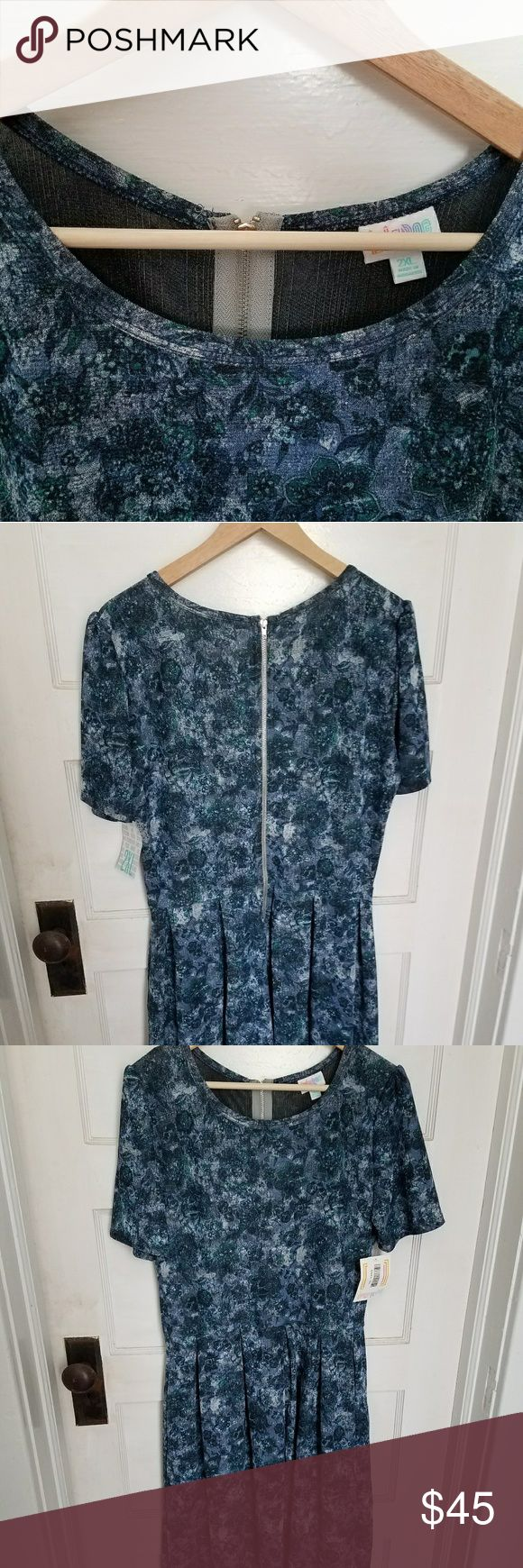 BNWT 2XL Amelia Brand New with tags LuLaRoe Amelia dress...lighter material in 2XL LuLaRoe Dresses Midi
