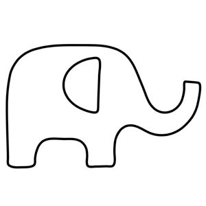 free applique pattern - elephant
