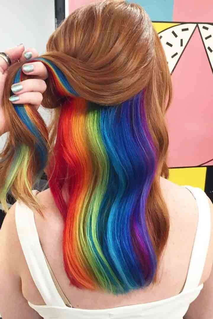 The 25+ best Rainbow hair colors ideas on Pinterest ...
