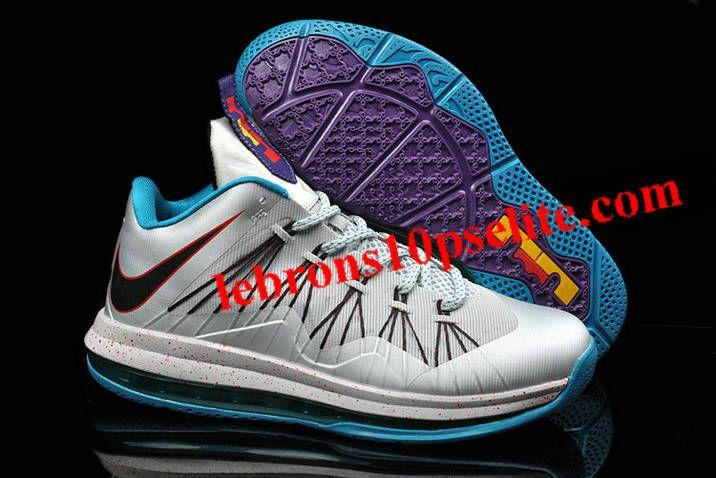 Nike Lebron X Low Summit Lake Hornets